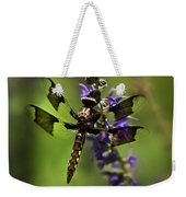 Dragonfly On Salvia Weekender Tote Bag