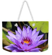Dragonfly On Water Lily Weekender Tote Bag