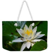 Dragonfly On Waterlily  Weekender Tote Bag