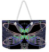 Dragonfly Queen At Midnight Fractal 161 Weekender Tote Bag