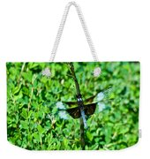 Dragonfly Resting On Stem Weekender Tote Bag