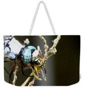 Dragonfly With Yellowjacket 2 Weekender Tote Bag