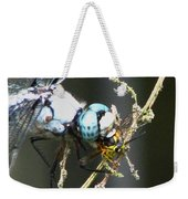 Dragonfly With Yellowjacket 3 Weekender Tote Bag