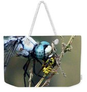 Dragonfly With Yellowjacket 5 Weekender Tote Bag