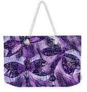 Dragons In Lavender Mosaic Weekender Tote Bag