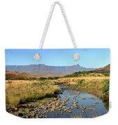 Drakensberg Amphitheatre Mountain Range In Kwazulu Natal, South Africa Weekender Tote Bag