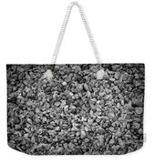 Dramatic Black And White Petals On Stones Weekender Tote Bag
