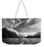 Dramatic Clouds And Alpine Scenery At Lake Manapouri  Weekender Tote Bag