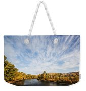 Dramatic Clouds Over Boise River In Boise Idaho Weekender Tote Bag