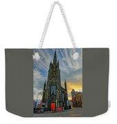 Dramatic Edinburgh Sunset At The Hub In Scotland  Weekender Tote Bag