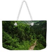 Dramatic Mountain Landscape With Distinctive Green Weekender Tote Bag
