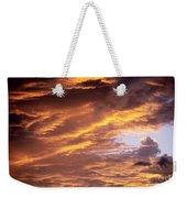 Dramatic Orange Sunset Weekender Tote Bag