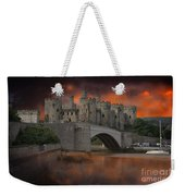 Dramatic Sky Over Castell Conwy Weekender Tote Bag