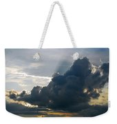 Dramatic Sky With Crepuscular Rays Weekender Tote Bag