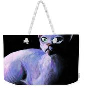 Dramatic Sphynx Cat Print Painting Weekender Tote Bag