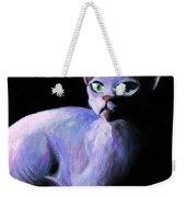 Dramatic Sphynx Cat Print Painting Weekender Tote Bag