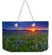 Dramatic Spring Sunrise At Camas Prairie Idaho Usa Weekender Tote Bag