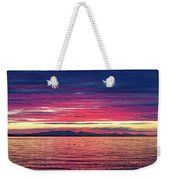 Dramatic Sunset Colors Over Birch Bay Weekender Tote Bag