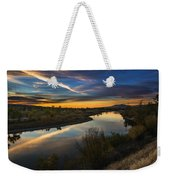 Dramatic Sunset Over Boise River Boise Idaho Weekender Tote Bag
