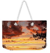 Dramatic Sunset Reflection Weekender Tote Bag