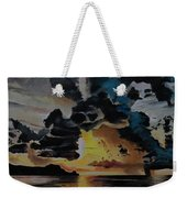 Dramatic Sunset Seascape Weekender Tote Bag