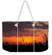 Dramatic Sunset Triptych Weekender Tote Bag