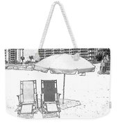 Drawing The Beach Chairs Weekender Tote Bag