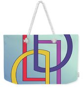 Drawn2shapes5clr Weekender Tote Bag