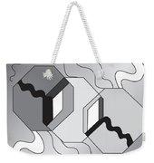 Drawn2shapes7bnw Weekender Tote Bag