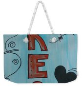 Dream Acrylic Watercolor Weekender Tote Bag