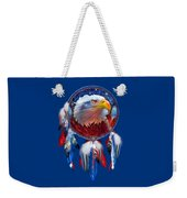 Dream Catcher - Eagle Red White Blue Weekender Tote Bag by Carol Cavalaris