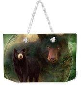 Dream Catcher - Spirit Of The Black Bear Weekender Tote Bag
