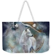 Dream Catcher - Spirit Of The White Wolf Weekender Tote Bag