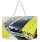 Streakin' Yellow Buick Weekender Tote Bag