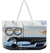 When White Meets Chrome Weekender Tote Bag
