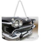 Black Lace Weekender Tote Bag