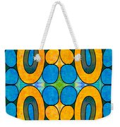Dreaming In Circles Abstract Hard Candy Art By Omashte Weekender Tote Bag