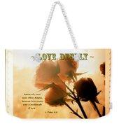 Dreams In Roses - Vintage - Verse Weekender Tote Bag