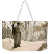 Dreamy Angel Monument Surreal Sepia Nature Weekender Tote Bag