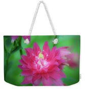 Dreamy Hot Pink Columbine Squared Weekender Tote Bag