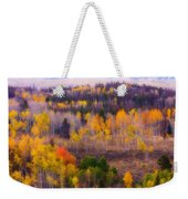 Dreamy Rocky Mountain Autumn View Weekender Tote Bag