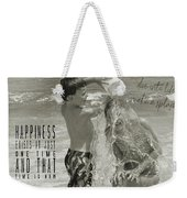 Drenched Quote Weekender Tote Bag