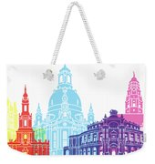 Dresden Skyline Pop Weekender Tote Bag