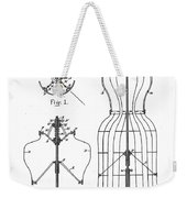 Dress Form Patent 1891  Weekender Tote Bag