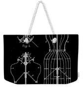 Dress Form Patent 1891 Black Weekender Tote Bag