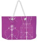 Dress Form Patent 1891 Pink Weekender Tote Bag