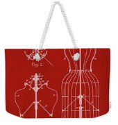 Dress Form Patent 1891 Red Weekender Tote Bag