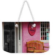 Dress Shop With Orange And Blue Awning Weekender Tote Bag