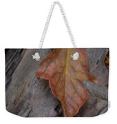 Dried Leaf On Log Weekender Tote Bag