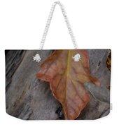 Dried Leaf On Log Weekender Tote Bag